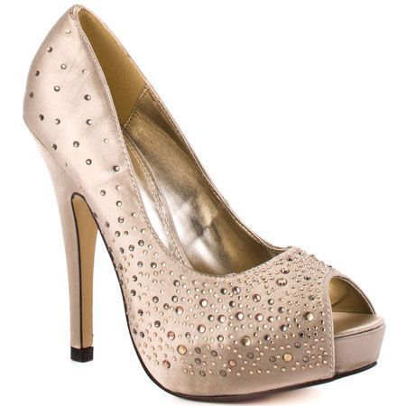 Evening Shoes for Less - Top Picks for 2011: Luichiny 'Troop Pers' - Satin Evening Pumps with Rhinestones