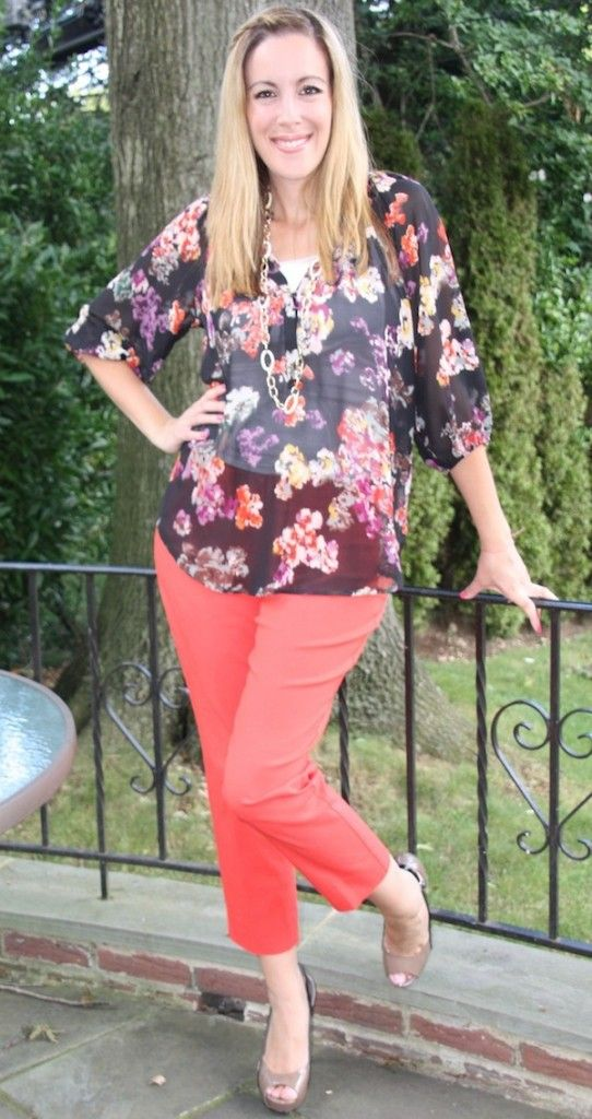 3 different ways to wear red pants #fashion -- From The Limited
