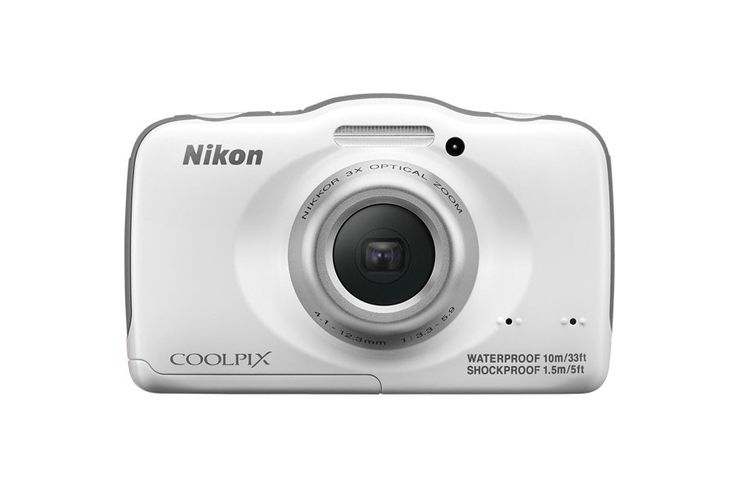 The COOLPIX S32 can go diving up to 33 feet deep, withstand drops of up to 5 feet and can play in the snow at temperatures as cold as 14° F. Shockproof, and hd video, safe to take to the beach, playground and any place for family fun.  http://www.zocko.com/z/JEqDF