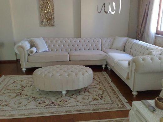 Chesterfield sofa modern grau  Die 25+ besten Chesterfield corner sofa Ideen auf Pinterest ...