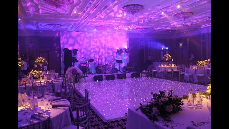 Starlit White LED Gloss Dance Floor