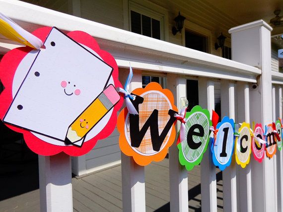 Teacher Back to School Colorful Welcome Banner by ThePirdieBirdie, $33.00