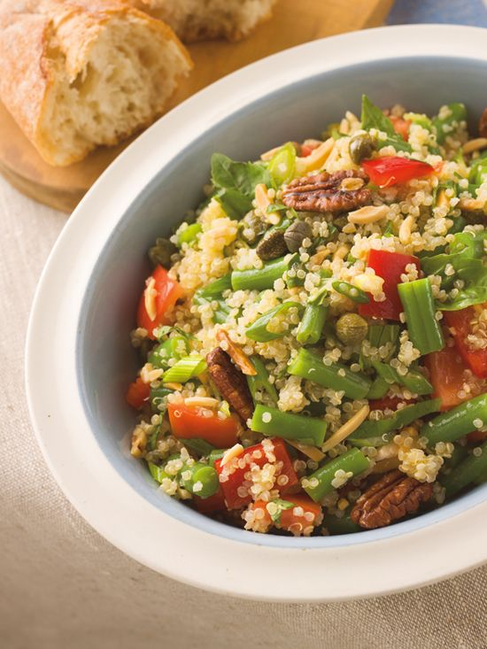 Poppytalk: Rob Feenie's Quinoa, Green Bean & Tomato Salad: Food Recipes, Tomatoes Salad Recipes, Green Beans, Classic Cookbook, Beans Salad, Quinoa, Healthy Recipes, Mr. Beans, Beans Tomatoes