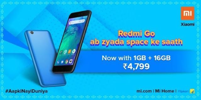 Xiaomi Redmi Go With 16gb Storage Variant Launched In India Xiaomi 16gb Newest Smartphones