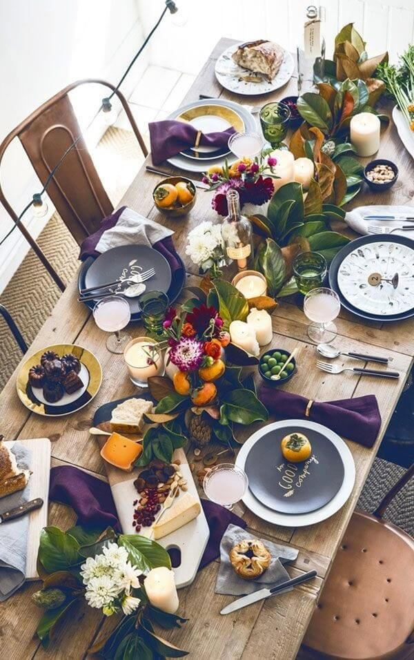 Christmas Table Decorating Ideas From Pinterest World Of Makeup And In 2020 Thanksgiving Table Inspiration Thanksgiving Table Settings Thanksgiving Table Decorations