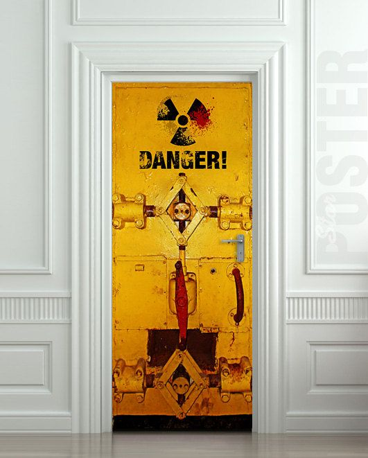 Danger sticker wallnit on etsy escape 2 pinterest for Posters portes interieures