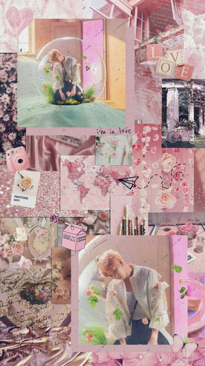 Bts Loveyourselfanswer Wallpaper Pink Aesthetic Pink Aesthetic Pink Wallpaper Iphone Wallpaper