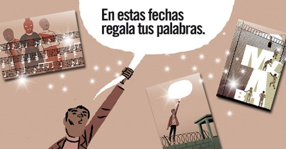 #RegalaTusPalabras a presos y presas de conciencia  Las ilustraciones de las tres postales son un regalazo del gran Paco Roca creador del cómic Arrugas