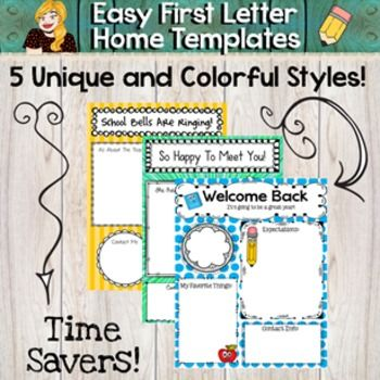 "This freebie includes 5 easy to use templates in order to write your first letter home to parents.  Writing a welcome letter is usually the first chance that parents have to ""meet the teacher"".  I like writing a colorful and friendly letter home to introduce myself and tell the parents fun facts about me."
