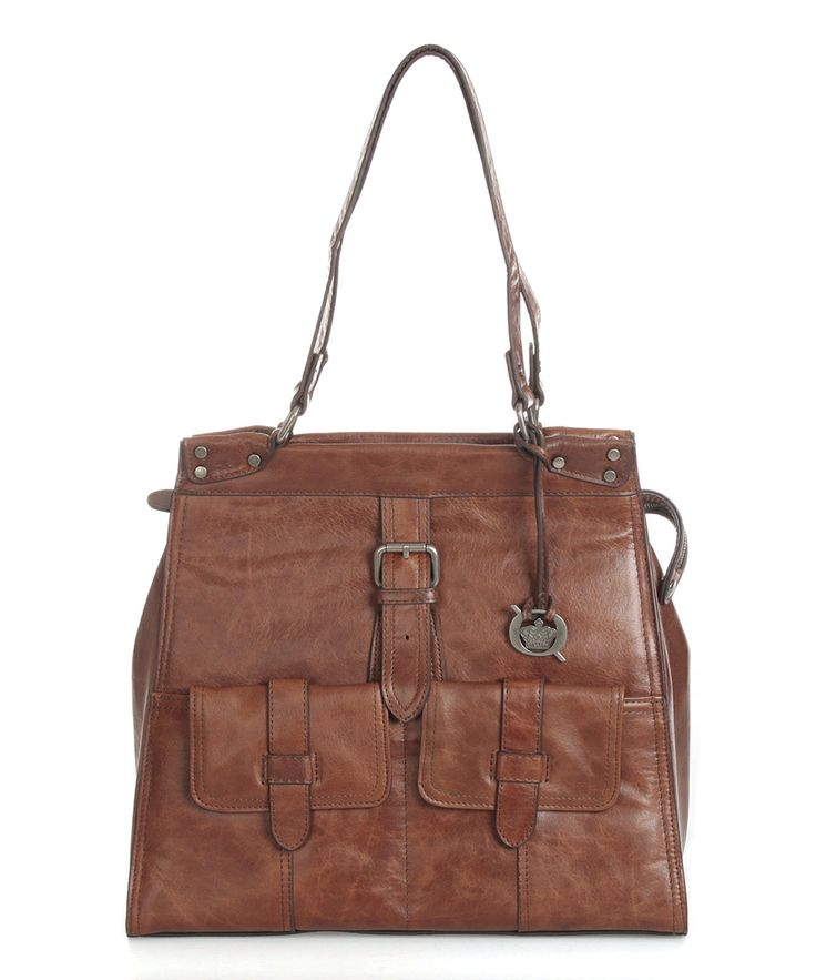 Whiskey Porto Leather Tote by Børn
