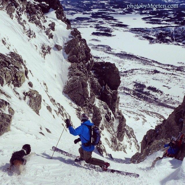 Steep telemark skiing in Norway! #telemarkski #telemarkskiing #freeheel