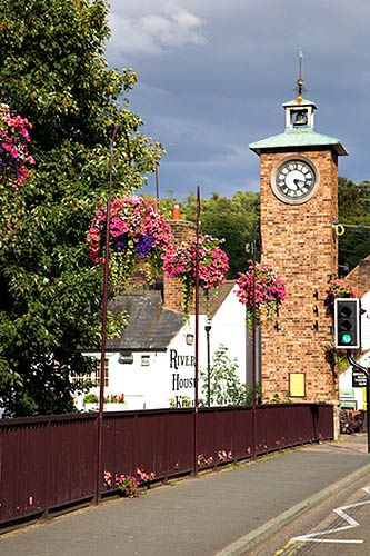 Bridge over the Severn and Clock Tower Bridgnorth Shropshire England, via Flickr.