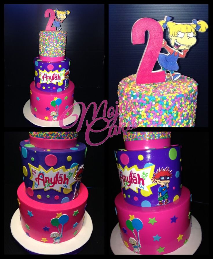 37 best rugrats theme party images on pinterest rugrats for Angelica cake decoration