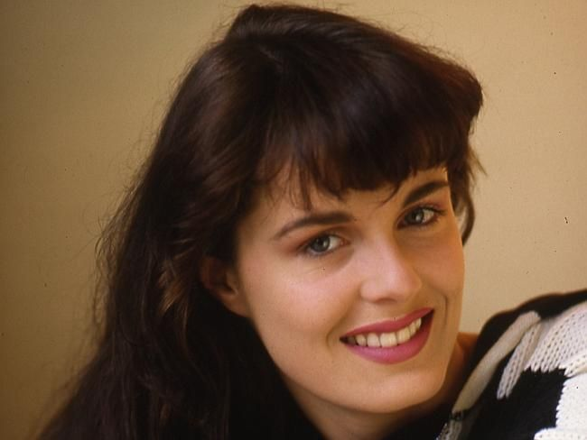New Zealand-born former model Charlotte Dawson poses in October 1987.
