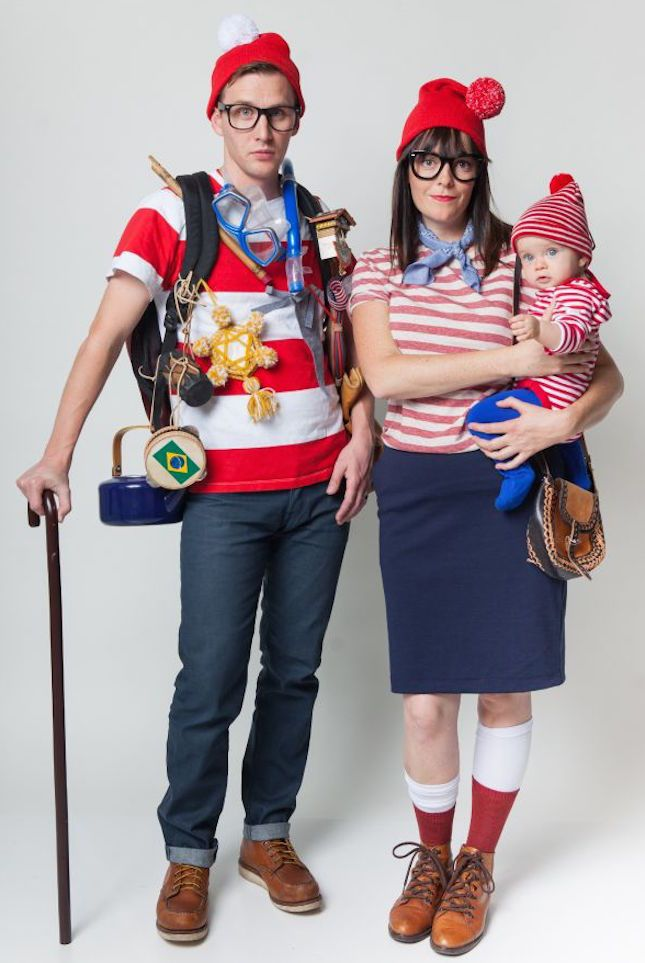 Love this Where's Waldo? DIY family Halloween costume tutorial.