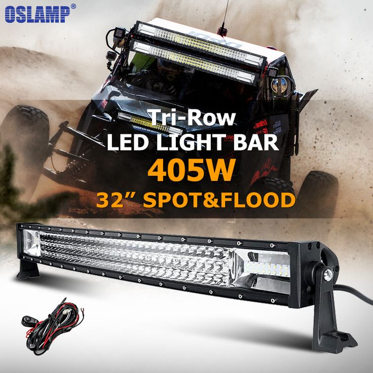 "==> [Free Shipping] Buy Best Oslamp 405W 32"" CREE Chips Curved LED Light Bar Tri-row Combo Beam LED Work Light Offroad for Truck SUV 4x4 4WD Pickup 12v 24v Online with LOWEST Price 