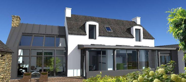 Les 17 meilleures images propos de penty et maisons for Projet d extension maison