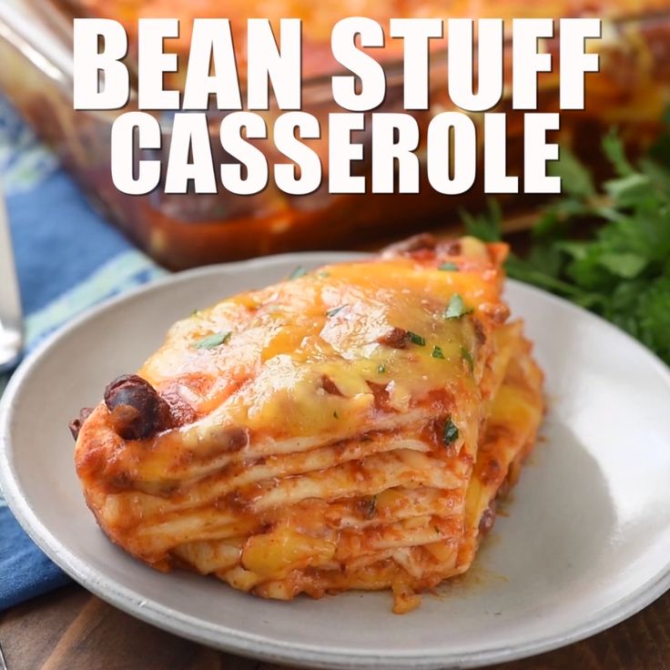 Bean Stuff Casserole // #chili #cheese #casserole #dinner #tasty