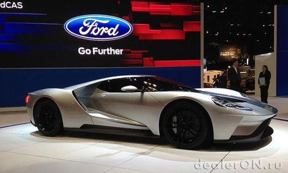 Новый Ford GT / Форд GT на Чикагском автосалоне