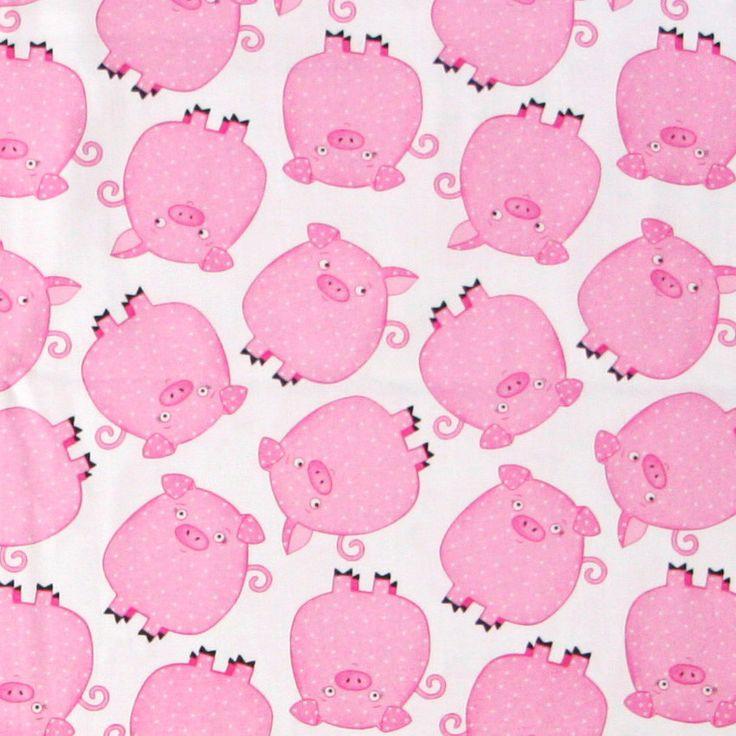 Tricoline 100% Algodão Importado Porquinhos (Metro) - Le Modiste