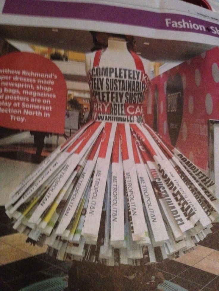 Newspaper dress by Matthew Richmond