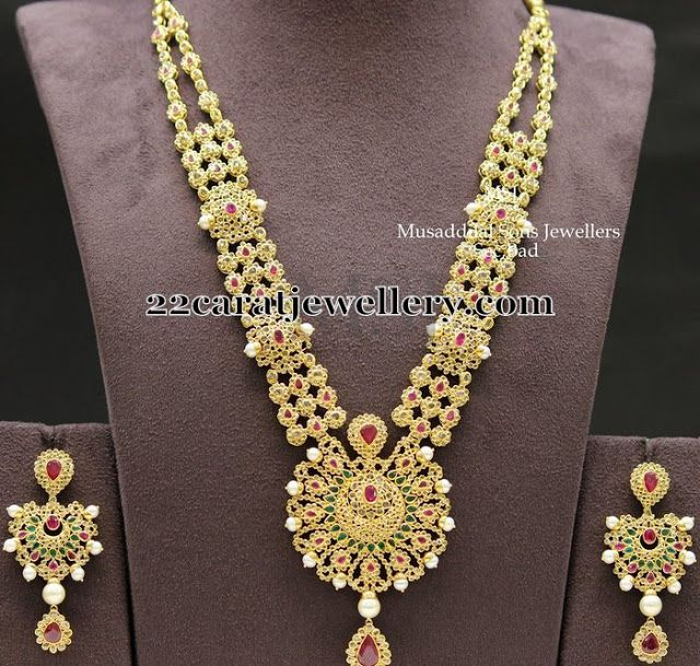 Bridal Diamond Necklace And Haram Set: 451 Best Images About Uncut Diamond Jewellery On Pinterest