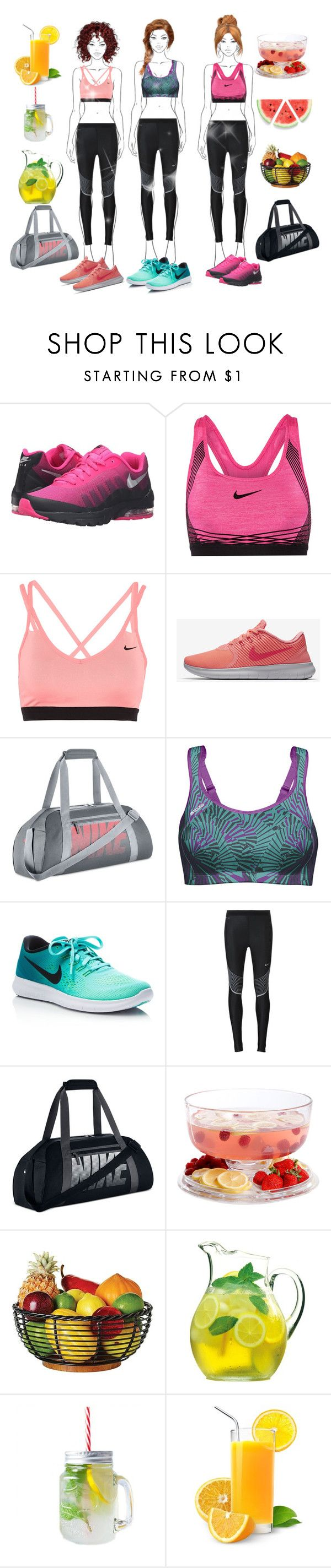 """💪Healty Girls 💪"" by gulokmini ❤ liked on Polyvore featuring NIKE, Shock Absorber, Gibson and Luigi Bormioli"