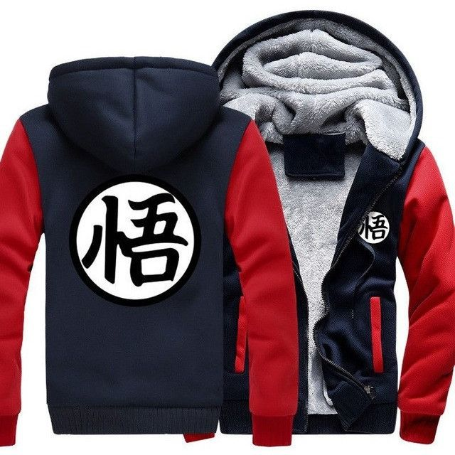 2017 new fashion autumn winter men jacket Dragon Ball Z Baseball Son Goku Costumes Anime Halloween Thicken Sweatshirt Goku Hoody