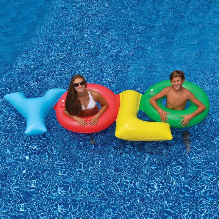 Swimline YOLO Double Ring Float - 93.5in x 30in