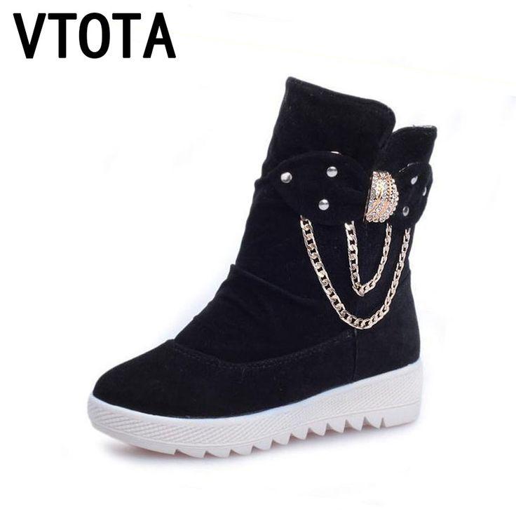 VTOTA Women Snow Boots 2017 Autumn Winter Boots Platform Shoes Warm Women Shoes Plataforma Bota Feminina Ankle Boots For Women  #Affiliate