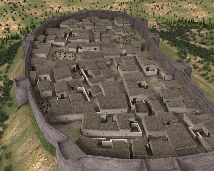 Begastri. La arquitectura - La muralla íbera - Región de Murcia Digital