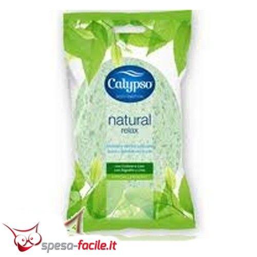 € 1,23  CALYPSO SPUGNA CORPO RELAX SPONTEX. Realizzata in cellulosa con fibre naturali, la spugna corpo Calypso Relax è ideale per un piacevole bagno