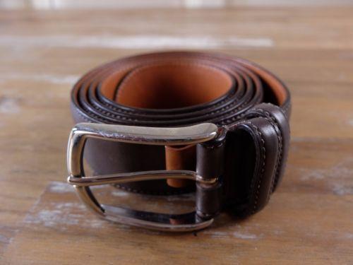 auth SANTONI leather belt - Size 110 (fits size 42 waist best) - NWOT
