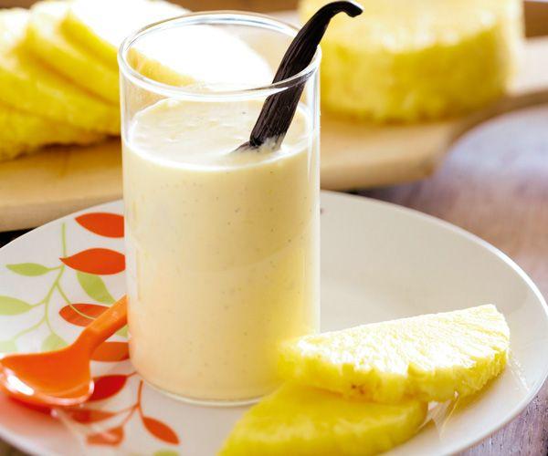 Pour se rafraîchir, rien ne vaut un #smoothie à l' #ananas et à la #vanille !