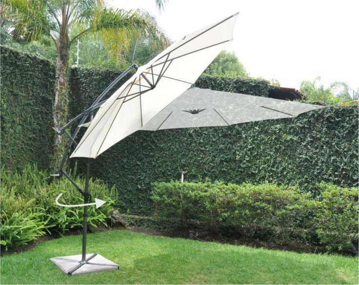 Qué te parece esta sombrilla Gamma 57 para pasar una mañana desayunando en el jardín #Decoración #Lunes #Desayuno