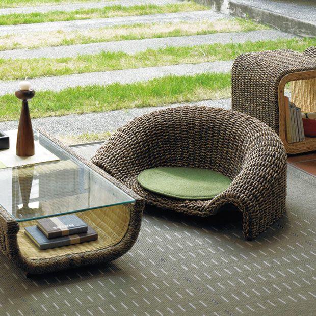 天然素材で涼しげな和風座椅子。座布団もセット♪  https://room.rakuten.co.jp/room_jp/1700005869408201?scid=we_rom_pinterest_official_20150811_r1