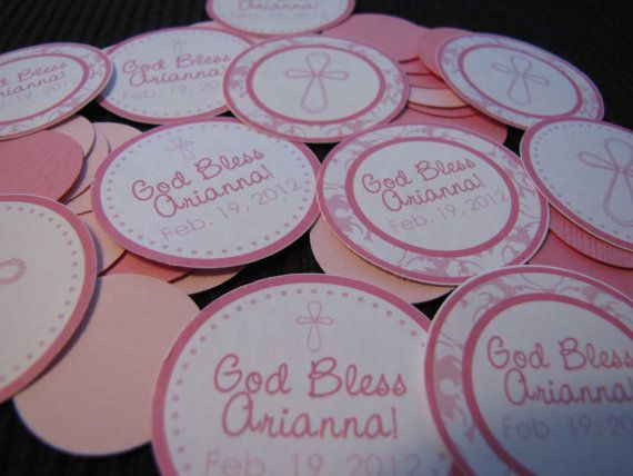 Baptism Theme Confetti Customized  You choose the by designgirl16, $4.50