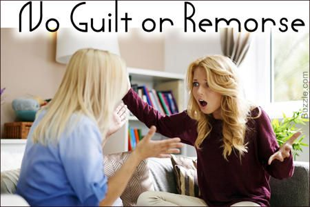 Sociopath Characteristics- No Guilt or Remorse