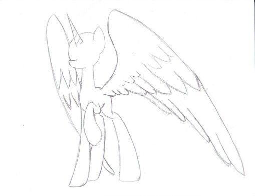 pony alicorn base gotta use that for my oc soon mlp basedrawing