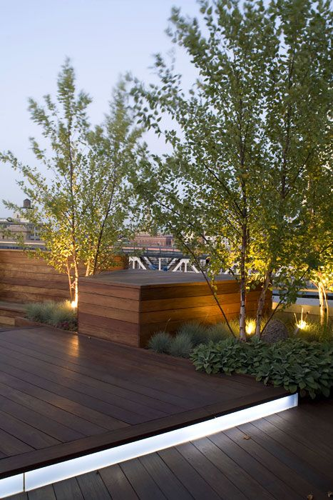 High Quality Lighting On Roof Terrace