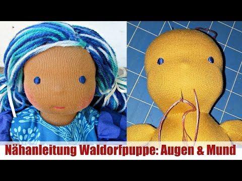 Nähanleitung Waldorfpuppe: Augen und Mund | Klassische Sami Doll Anleitung | Teil 4 - YouTube