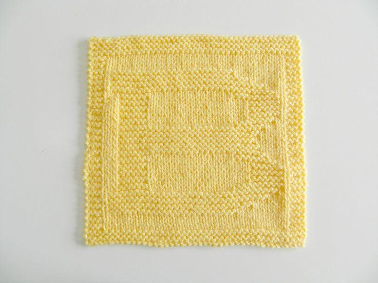 ALPHABET DISHCLOTHS SERIES: B dishcloth knitting pattern # ...