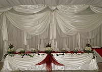 Complimentary draping offered with Stonehaven's wedding packages, Stonehaven is located on the Vaal River