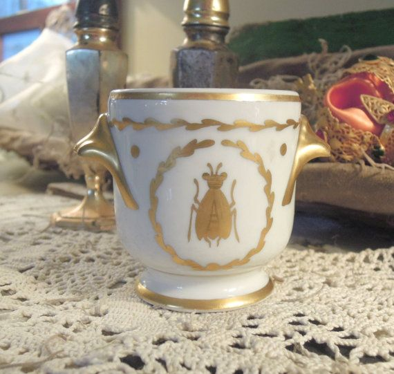 Vintage Porcelain French Limoges Pot Napoleon By