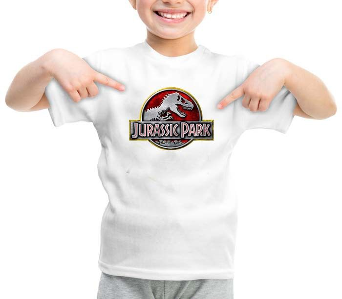 jurassic park logos graphic printed youth toddler tshirt
