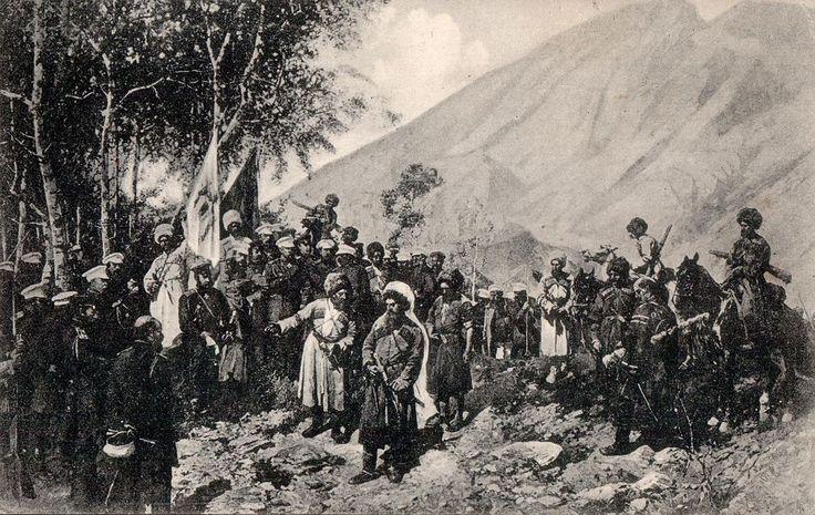 Şeyh şamil ruslarla dağ başında-resim 1800 yıllar - Şeyh Şamil - Vikipedi