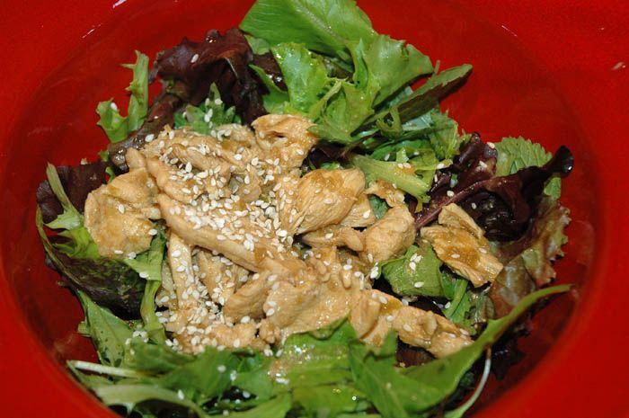Warm Stir-Fried Chicken Salad