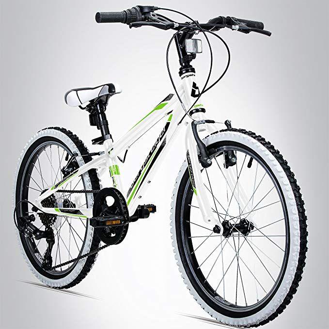Bergsteiger Kansas 24 Zoll Kinderfahrrad Geeignet Fur 8 9 10 11 Jahre Shimano 6 Gang Schaltung Mountainbike Mit Weiss Kinder Fahrrad Kinderfahrrad Fahrrad