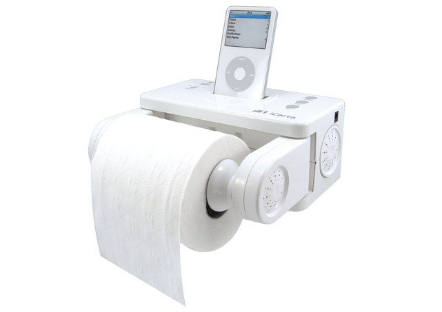 An iPod dock for musical poops...what a shitty idea