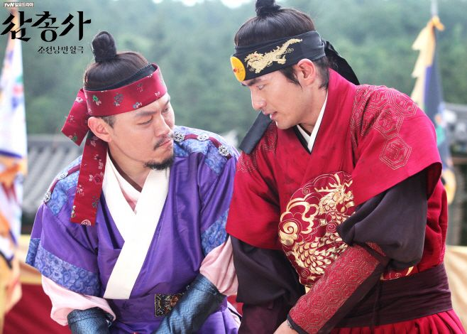 The Three Musketeers(Hangul:삼총사;RR:Samchongsa) is a 2014 South Korean television series starringJung Yong-hwa,Lee Jin-wook,Yang Dong-geun, Jung Hae-in, andSeo Hyun-jin. Loosely based onAlexandre Dumas's novelThe Three Musketeers, the series follows threeJoseon-era adventurers who serveCrown Prince Sohyeonas his warrior guards. It aired on cable channeltvN for 12 episodes.